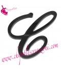Ciondolo Lettera C Plexiglass Nero