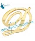 Ciondolo Lettera D Plexiglass Specchiato Oro
