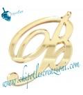 Ciondolo Lettera B Plexiglass Specchiato Oro