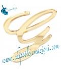 Ciondolo Lettera G Plexiglass Specchiato Oro