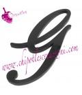 Ciondolo Lettera G Plexiglass Nero