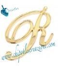 Ciondolo Lettera P Plexiglass Specchiato Oro