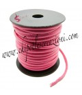 Tubolare in Ecopelle 4 mm Rosa