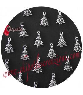 Ciondolo Albero di Natale 23x14 mm colore Argento Antico