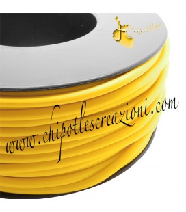 Cordoncino PVC Giallo 4 mm Forato (1 metro)