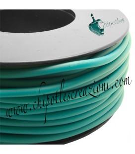 Cordoncino PVC Blue Zircon 4 mm Forato (1 metro)