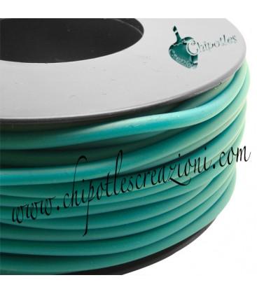 Cordoncino PVC Blue Zircon 4 mm Forato