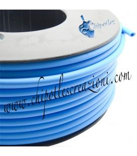 Cordoncino PVC Azzurro 4 mm Forato (1 metro)
