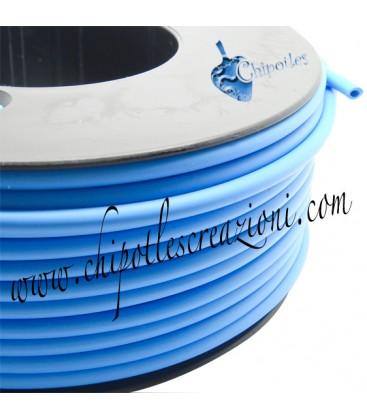 Cordoncino PVC Azzurro 4 mm Forato