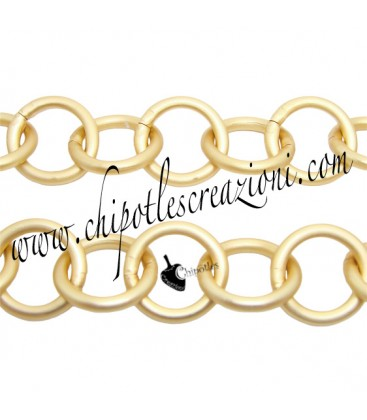 Catena Tonda 13 mm Alluminio colore Oro Opaco