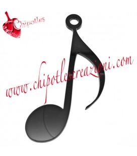Ciondolo Nota Musicale 80x40 mm Plexiglass Nero