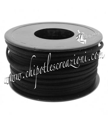 Cordoncino Coda di Topo 3 mm Nero