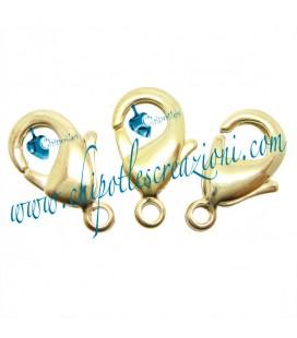 Moschettone Ottone 15 mm color Oro