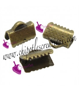 Capocorda Terminale per Nastri 10x8 mm Bronzo Antico