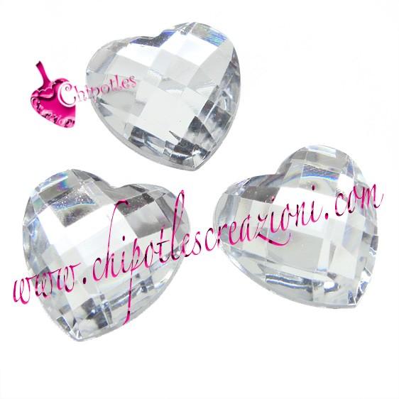 corazón azul 6x6 mm-de acrílico de pedrería-piedras//semipreciosas para adhesivas 100 St