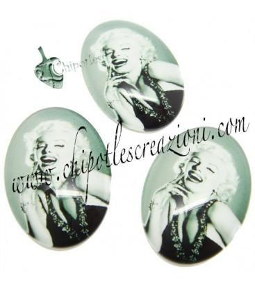 Cabochon Marilyn Monroe 25x18 mm Vetro