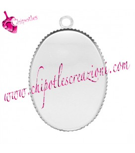 Charm Base Cabochon Cammeo 29x19 mm (25x18 interno)