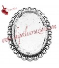 Base Cabochon Cammeo 34x28 mm (25,5x18,5 interno)