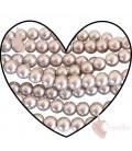 Perle 8 mm Vetro Cerato color Beige Chiaro (100 pezzi)