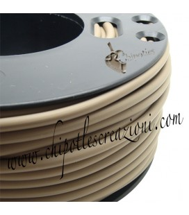 Cordoncino PVC Beige 4 mm Forato (1 metro)