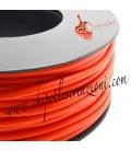 Cordoncino PVC Arancione 4 mm Forato (1 metro)