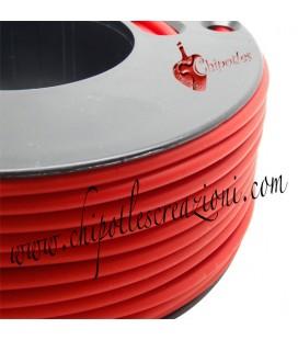 Cordoncino PVC Rosso 4 mm Forato (1 metro)