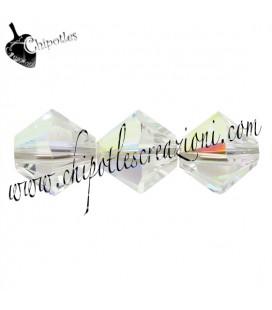 Biconi Swarovski® 5328 6 mm Crystal Aurora Boreale 001 AB (30 pezzi)