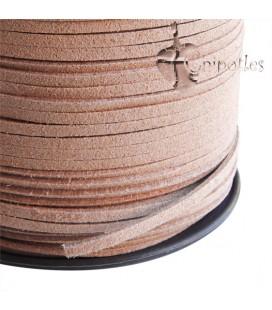 Cordoncino Simil Suede Alcantara 3x1,5 mm Carne