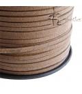 Cordoncino Simil Suede Alcantara 3x1,5 mm Beige