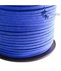 Cordoncino Simil Suede Alcantara 3x1,5 mm Bluette
