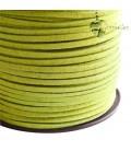 Cordoncino Simil Suede Alcantara 3x1,5 mm Verde Pistacchio