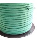 Cordoncino Simil Suede Alcantara 3x1,5 mm Verde