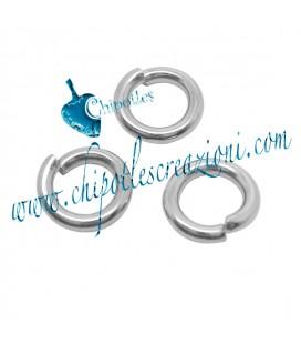 Anellino Apribile 7x1,3 mm Acciaio Inossidabile (100 pezzi)