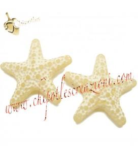 Perla Stella Marina Resina 31x33 mm color Sabbia Avorio Ghiaccio