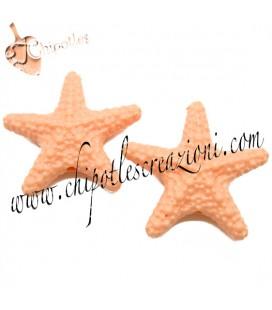 Perla Stella Marina Resina 31x33 mm color Rosa Corallo