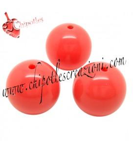 Perla 16 mm Arancio Corallo Resina