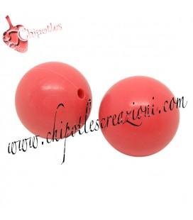 Perla 16 mm Rosa Corallo Resina