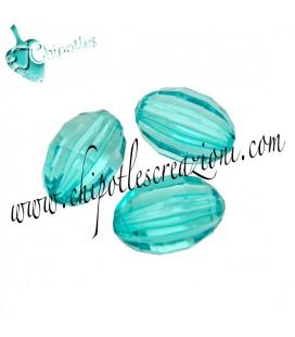 Perla Oliva Sfaccettata 14x9 mm Turchese