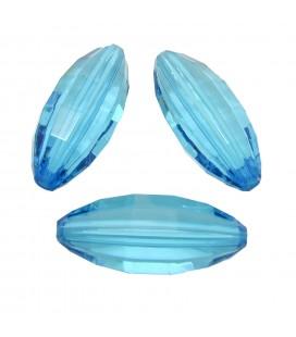 Perla Oliva Sfaccettata 29x12 mm Caribbean Blue