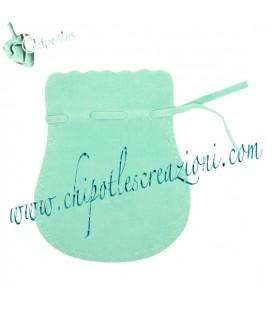 Sacchetto Anfora 92x77 mm Bifloccato Verde Menta