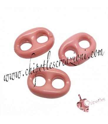 Maglia Marina Rosa Corallo 14x10 mm Resina