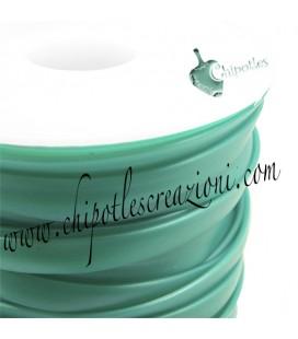 Fettuccia PVC 7 mm Verde Acqua Metallizzato (1 metro)