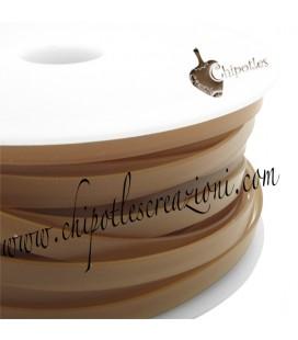 Fettuccia PVC 7 mm Marrone Trasparente