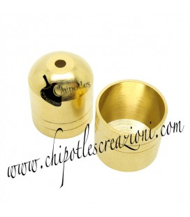 Terminale Capocorda Ottone 12x14 mm colore Oro