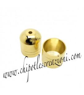 Terminale Capocorda Ottone 8x10 mm color Oro