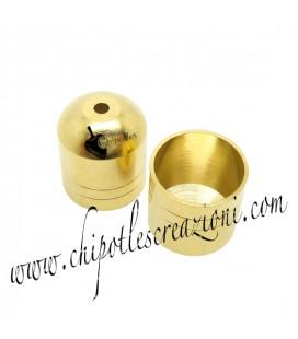 Terminale Capocorda Ottone 10x12 mm colore Oro