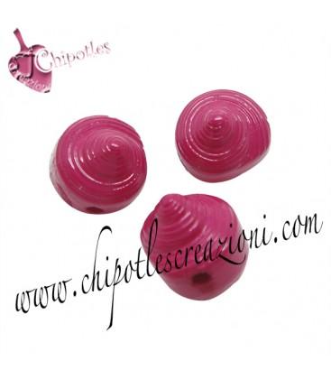 Perla Conchiglia 11x10x11 mm Fucsia Acrilico
