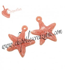 Ciondolo Stella Marina 21x19 mm color Rosa Corallo Acrilico