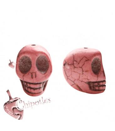 Perla Teschio 18x14 mm colore Rosa