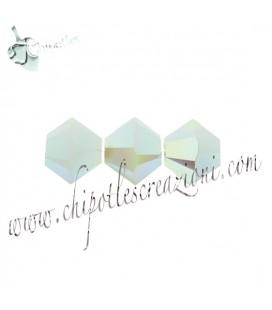Biconi Swarovski® 5328 4 mm Mint Alabaster AB 2x (60 pezzi)